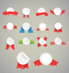 Collection of paper style labels vector image vector image