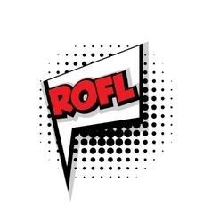 Comic text rofl sound effects pop art vector