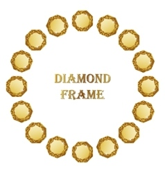 Diamond round frame vector