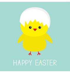 Easter chiken Egg shell on head Baby background vector image