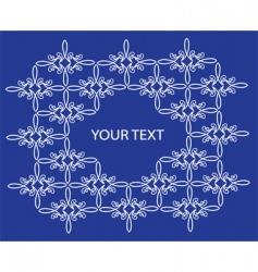 floral filigree pattern vector image
