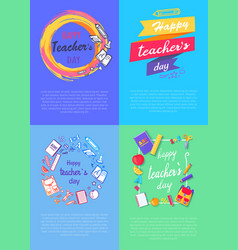 four pictures teachers day vector image