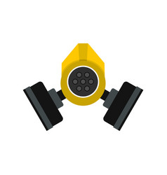 gas mask icon flat style vector image