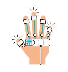 Glove video game control vector