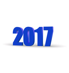 Happy new year 2017 celebration 3d text blue 2017 vector