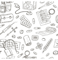 Health care and medicine seamless pattern vector