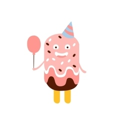 Ice-cream on a stick children birthday party vector