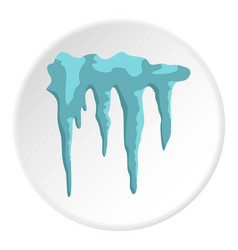 Icicles icon circle vector