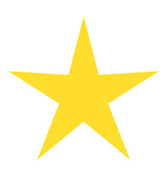 isolated yellow star icon ranking mark vector image vector image