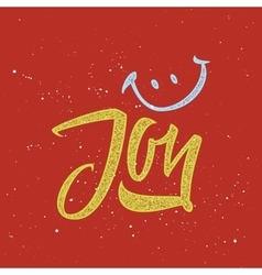 Joy calligraphy lettering vector