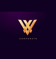 letter v logo v letter design vector image vector image