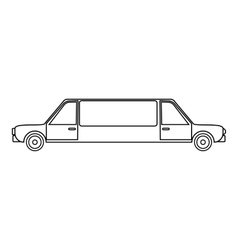 Limousine icon outline style vector