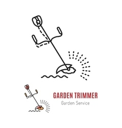 Line trimmer Gardening tools vector image