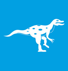 Ornithopod dinosaur icon white vector