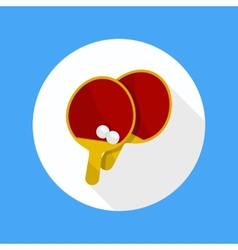 Ping pong table tennis rackets vector image vector image