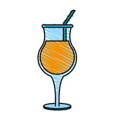 refreshing liquor cocktail vector image