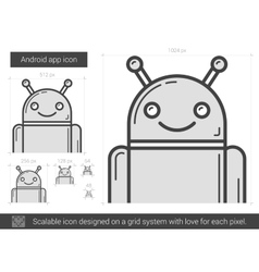 Robot line icon vector
