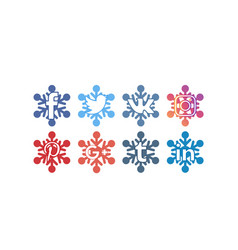 Social icons 5 frozen vector