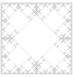 Square sacral geometry fractal background vector