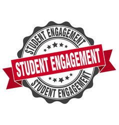 Student engagement stamp sign seal vector