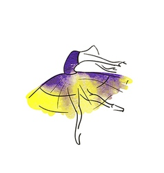 Stylised dancing woman vector