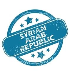 Syrian arab republic round stamp vector