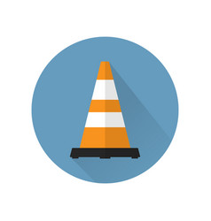 Traffic cone in flat style isolated vector