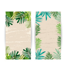 Tropical plants banner vector