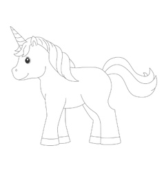 Unicorn for coloring book vector image vector image