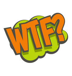 wtf comic text sound effect icon isolated vector image vector image