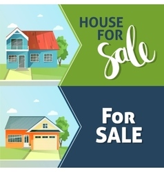 Set of banners property sale Family house Flat vector image
