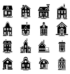 House icons set in simple style vector