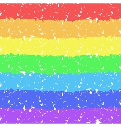 Hand painted crayon rainbow background vector