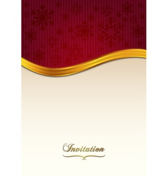 Red invitation vector