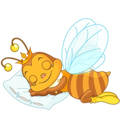 Sleeping bee vector