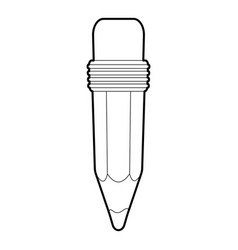 pencil icon outline style vector image