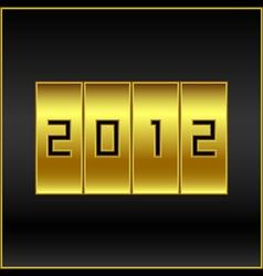 2012 vector image vector image