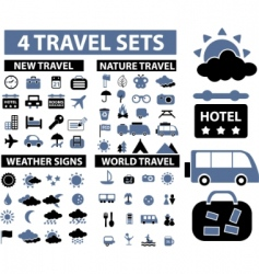 Travel signs vector