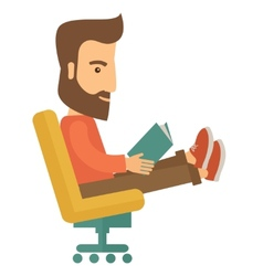 Man sitting with a book vector