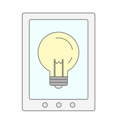 Bulb in cellphone vector