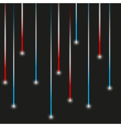 Simple blue and red lights laser stripes shiny vector