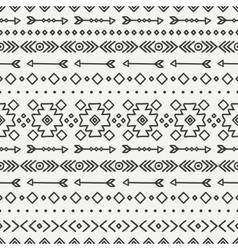 Hand drawn geometric ethnic seamless pattern vector