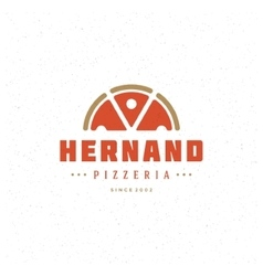 Pizzeria restaurant shop design element vector