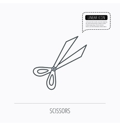 Gardening scissors icon secateurs tool sign vector