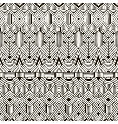 Seamless tribal pattern hand drawn vector
