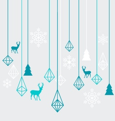 Geometric christmas ornaments vector