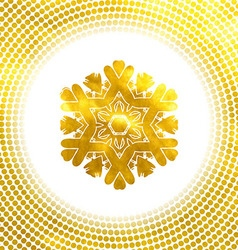 Golden snowflake 10 eps vector