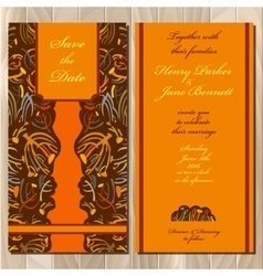 Autumn tansy wedding invitation card printable vector