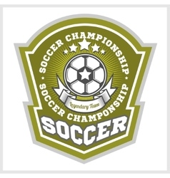 Football badge logo template designsoccer team vector image