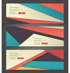 Unusual modern material design backgrounds banners vector
